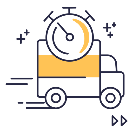 Shipping delivery stroke icon