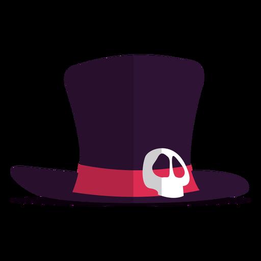 Ilustración de sombrero de calavera