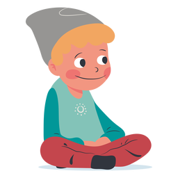 Smiling kid character
