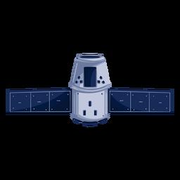Ilustración de satélite artificial espacial