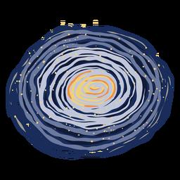 Ilustração da galáxia espacial