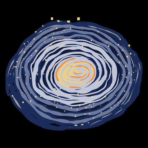 Ilustración de galaxia espacial