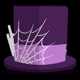 Ilustração de chapéu de aranha web
