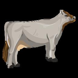 Ilustração animal de vaca em pé