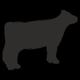 Silhueta animal de vaca em pé