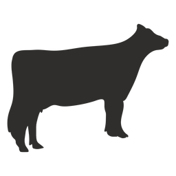 Standing cow animal silhouette