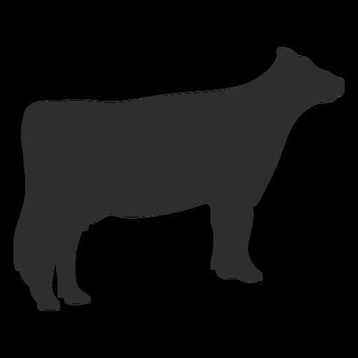 Silueta de animal de vaca de pie