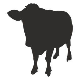 Standing cow front silhouette