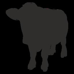Vaca de pie frente silueta