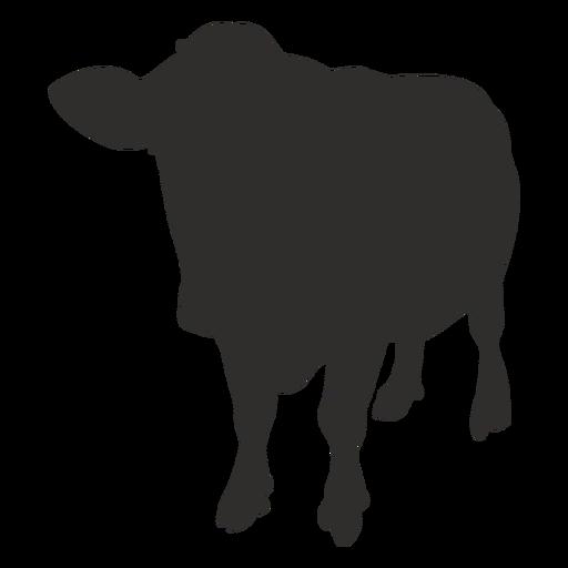 Silueta de frente de vaca de pie