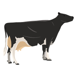 Standing cow illustration