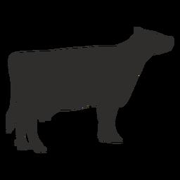 Silhueta de vaca em pé