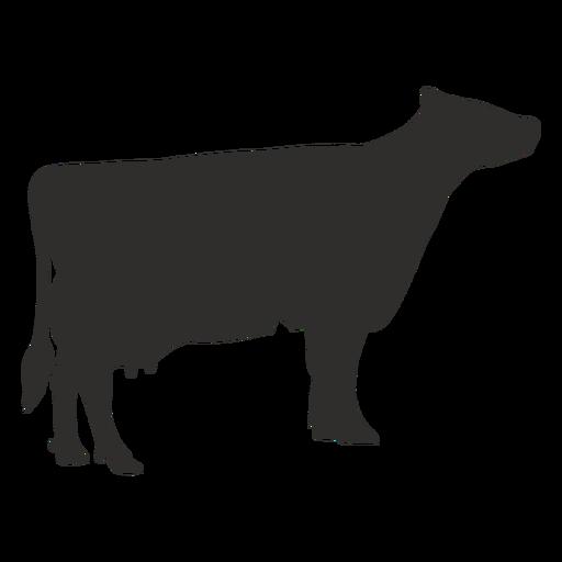 Silueta de vaca de pie