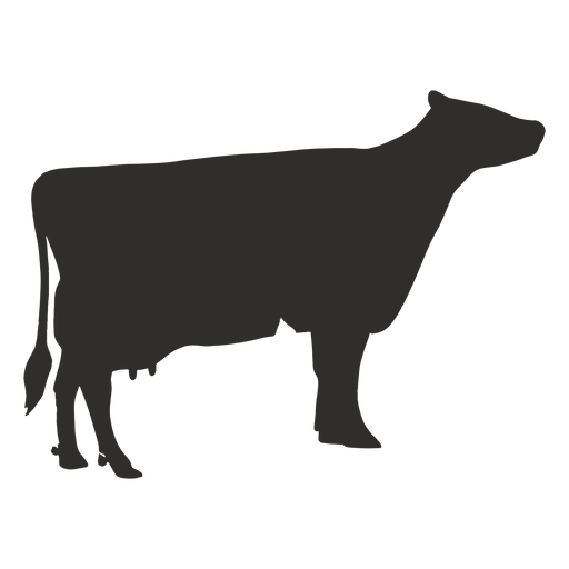 Standing cow silhouette