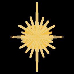 Star glowing flat