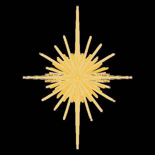 Estrella brillante plana Transparent PNG
