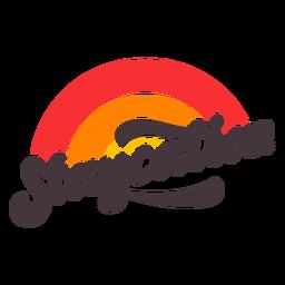 Distintivo de isolamento de Staycation