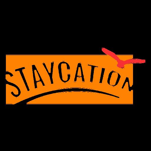 Insignia de vacaciones Staycation