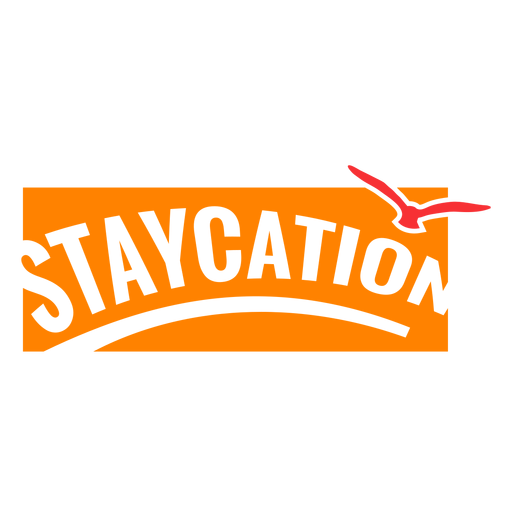 Staycation vacation badge