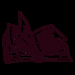Libro abierto de trazo