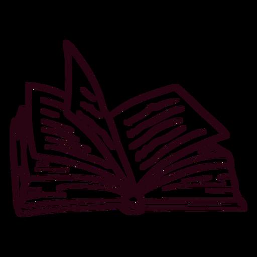 Stroke open book Transparent PNG