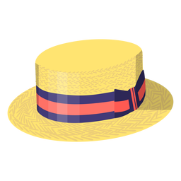 Summer vintage hat illustration