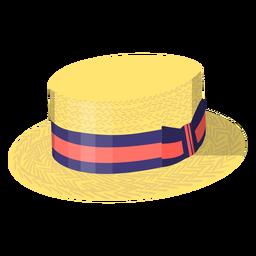 Summer vintage hat illustration
