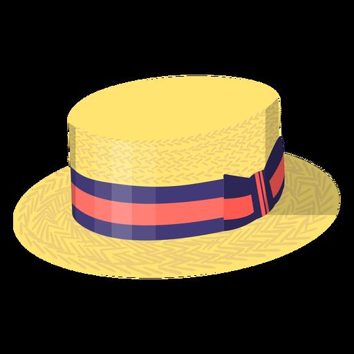 Ilustración de sombrero vintage de verano