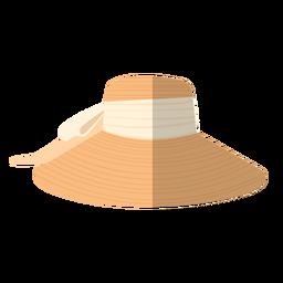 Ilustración de sombrero de mujer de verano