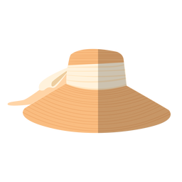 Summer woman hat illustration