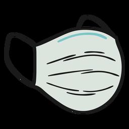 Ilustração de máscara cirúrgica