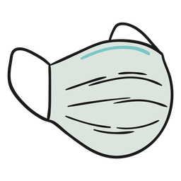 Ilustración de máscara quirúrgica