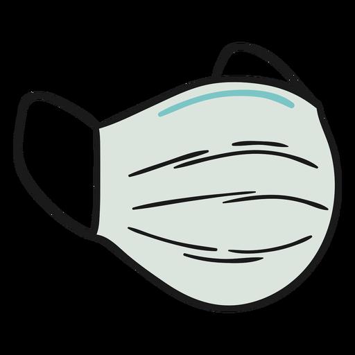 Surgical mask illustration