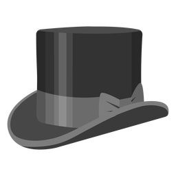 Top hat bow illustration