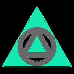Triangle modern style flat