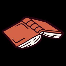 Ilustración de libro abierto al revés