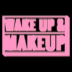 Insignia de despertador y maquillaje