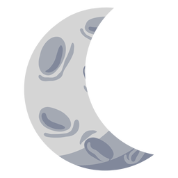Waning crescent moon illustration