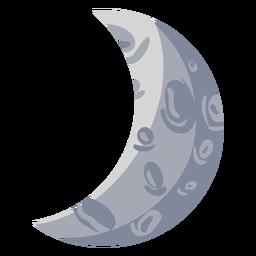 Ilustración de luna creciente encerada