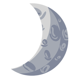 Waxing crescent moon illustration