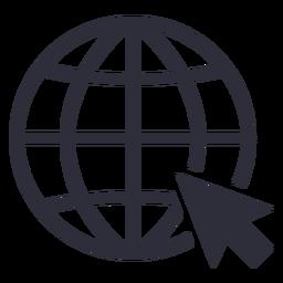 Trazo de icono de cursor de sitio web