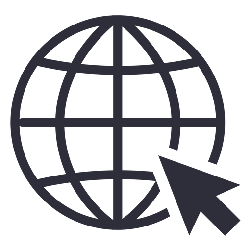 Website cursor icon stroke Transparent PNG