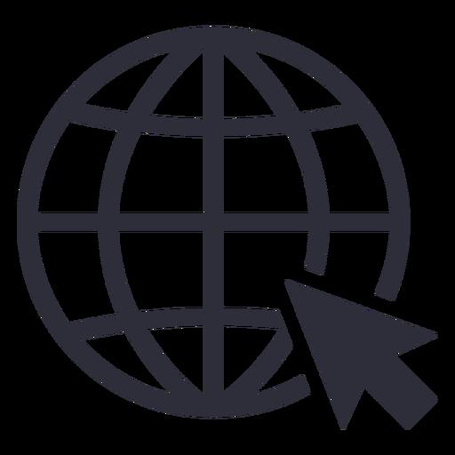 Website cursor icon stroke