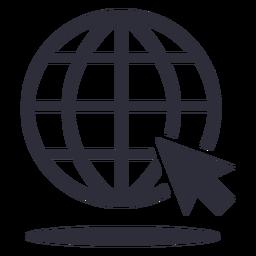 Icono de trazo de cursor de sitio web