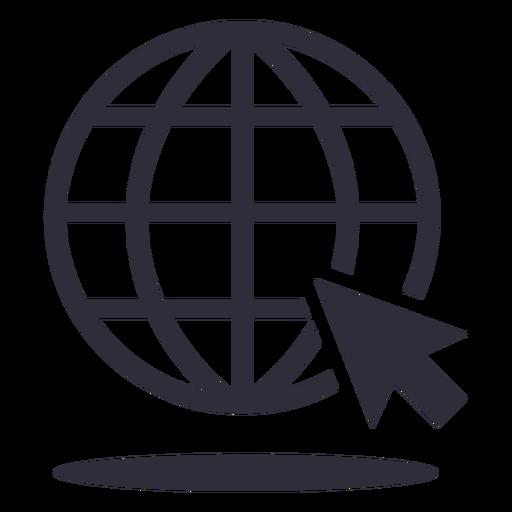 Website cursor stroke icon