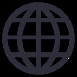 Trazo de icono de sitio web