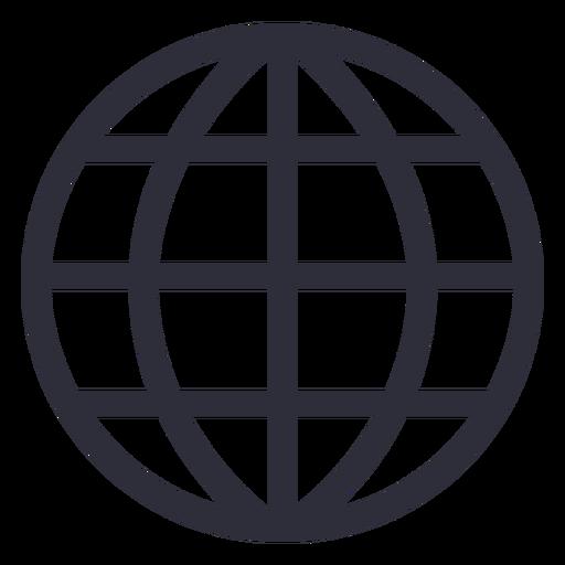 Website icon stroke Transparent PNG