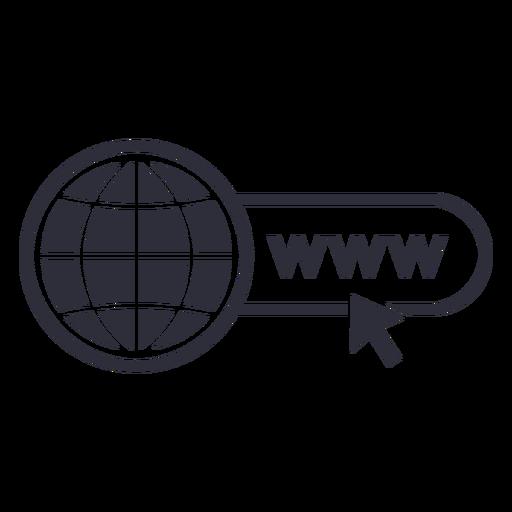 Sitio web www trazo de icono de cursor