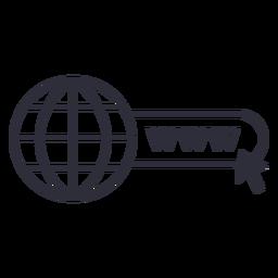 Trazo de icono de sitio web www