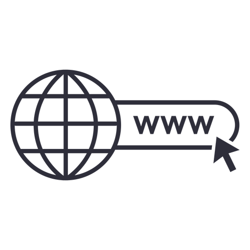 Website www icon stroke Transparent PNG